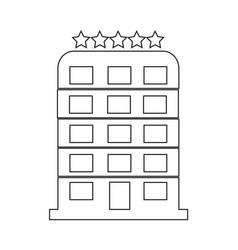5 star hotel icon design vector image