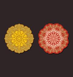 a set mandalas for yoga and meditation vector image