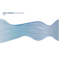 abstract horizontal lines blue wave design vector image
