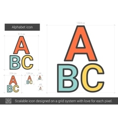 Alphabet line icon vector
