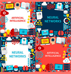 artificial intelligence paper templates vector image
