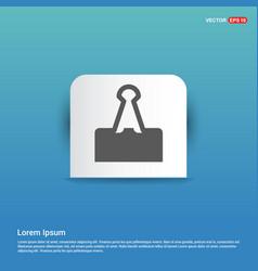 Attach paper icon - blue sticker button vector