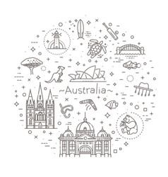 australian culture animals traditions vector image