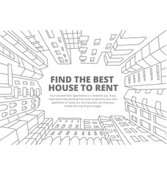 background for text on the rental of real estate vector image