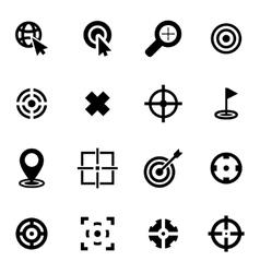 black target icon set vector image
