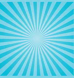 Blue retro sunburst background vector