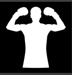 boxer it is the white color icon vector image