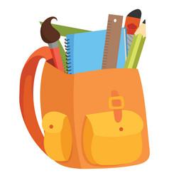 cartoon a school bag vector image