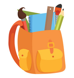 cartoon a school bag with vector image