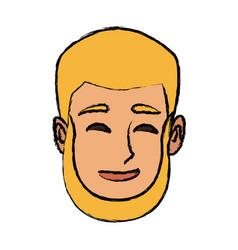 Character man face cartoon smiling vector