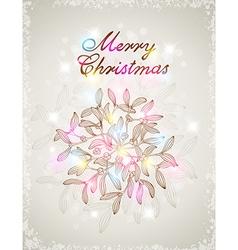 Christmas background with mistletoe vector