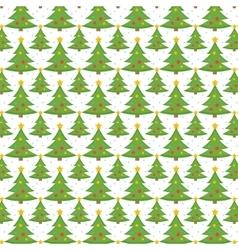 Christmas tree seamless pattern endless vector image vector image