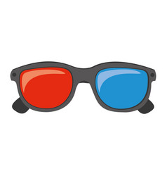 color 3d glasses cinema movie icon vector image