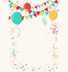 colorful celebrate background with party flags vector image