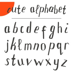 Cute hand drawn alphabet font vector image