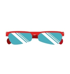 cyclist sunglasses wear icon vector image