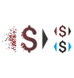 Dispersed pixel halftone regulate price icon vector