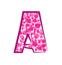 English pink letter vector
