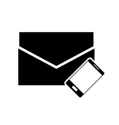 Envelope and cellphone icon vector