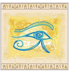 Eye of horus - vintage background vector