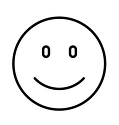 Face smiley icon flat design vector