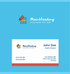 files copy logo design with business card vector image