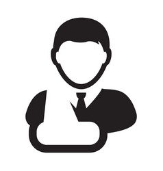first aid icon of male person profile avatar vector image