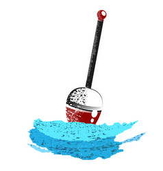fishing float on the wave vector image