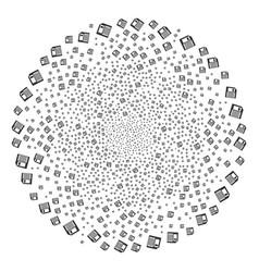 Floppy disk centrifugal sphere vector