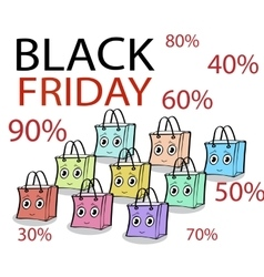 Funny gift wrap pack black Friday sale vector