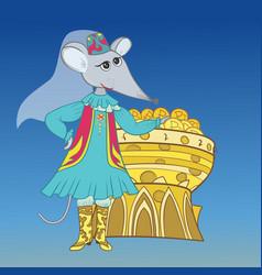 funny tatar muslim mouse sketc vector image