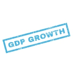 GDP Growth Rubber Stamp vector image