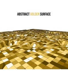 Golden 3d mosaic wireframe texture mapping vector