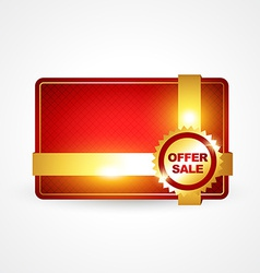 Golden offer sale vector