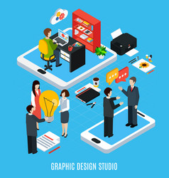 graphic design studio concept vector image
