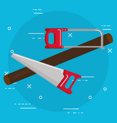 Handsaw and saw tools vector