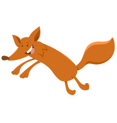 Happy fox animal character vector