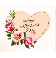Happy mothers day background with a heart-shaped vector