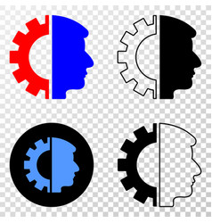 head gear eps icon with contour version vector image