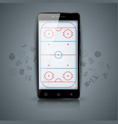 Hockey court sport temlate sport vector