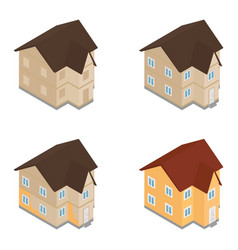house building construction vector image