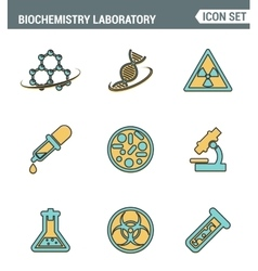 Icons line set premium quality of biochemistry vector