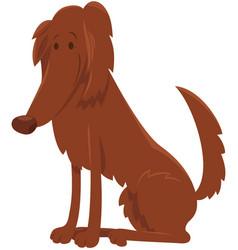 irish setter dog cartoon character vector image