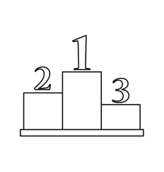 Isolated podium design vector