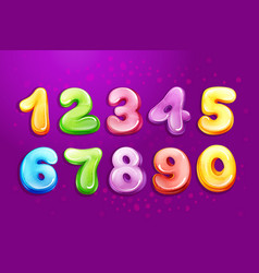 kid numbers bubble cartoon type set vector image