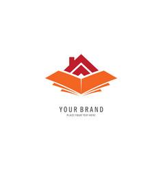 library symbol logo vector image