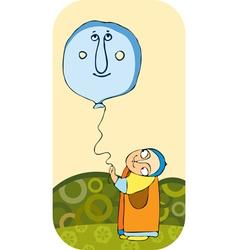 Little boy balloon vector