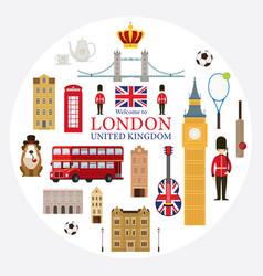 London england and united kingdom tourist vector