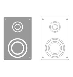 Loud speaker set icon vector