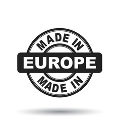 made in europe black stamp on white background vector image